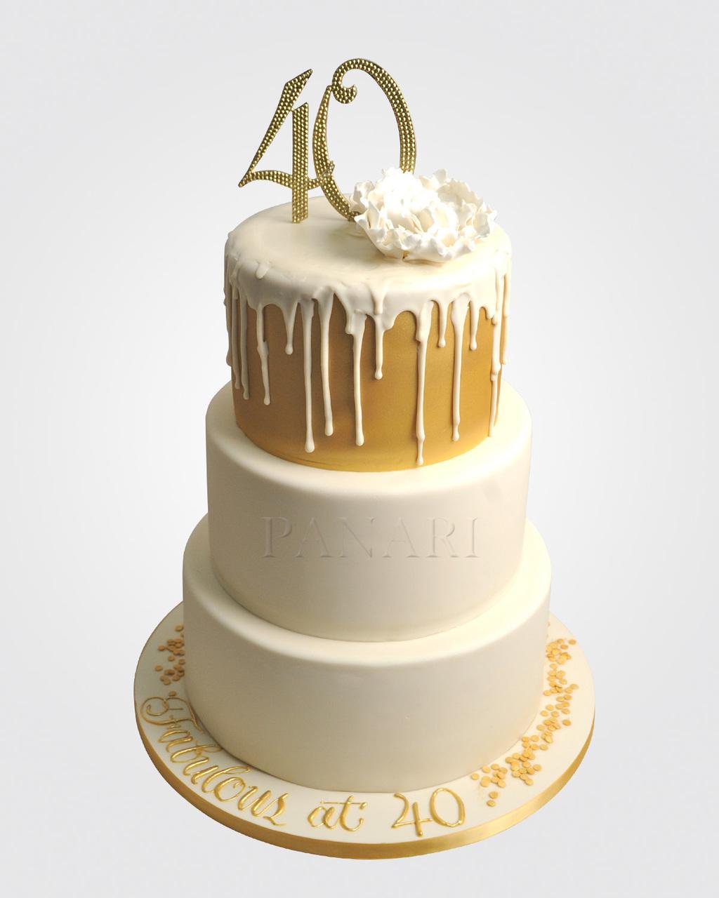 40th Drip Cake CL9125