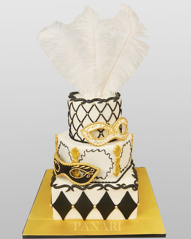 Feathers & Mask Cake .jpg