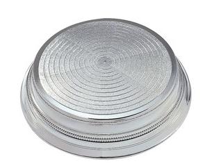 Silver Round Plastic Cake Stand
