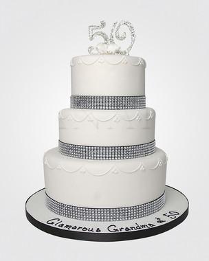 50th Birthday Cake CL8136