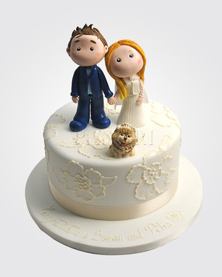 CUTE COUPLE WEDDING CAKE WC1009.jpg