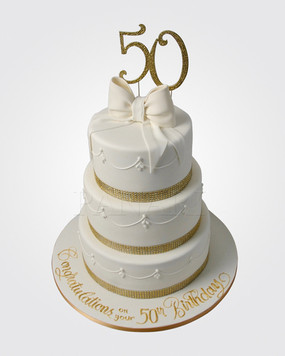 50th Birthday Cake CL2169