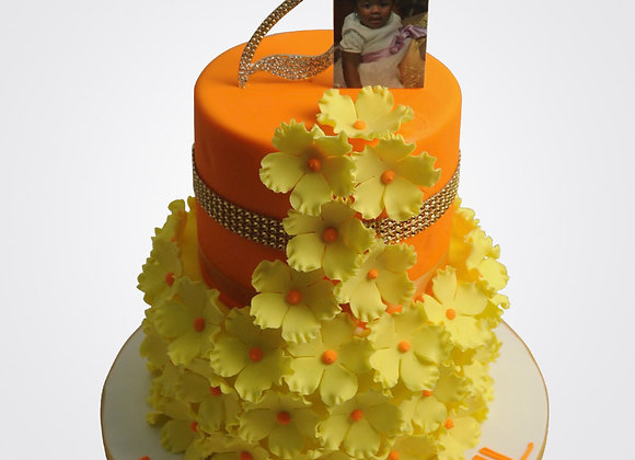 Floral Framed Cake  CG5886