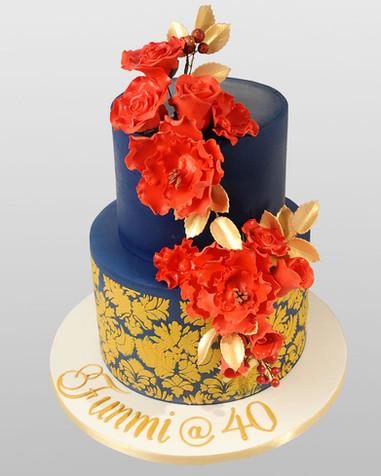 Damask Red Rose Cake CL1059.jpg