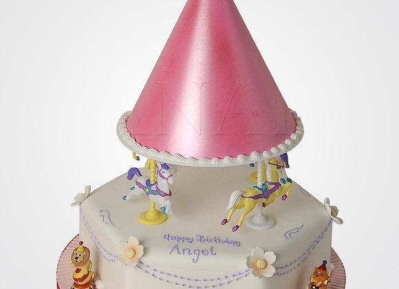 Pink Carousel Cake CG2563