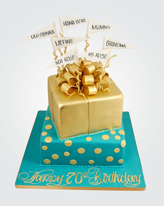 Gold Bow Cake CL5918