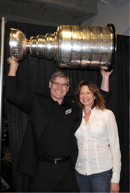 Ryan and Jenn with Stanley Cup at Hockey