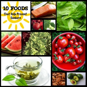 10 Foods to Prevent Sunburn