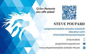 Stève Poupard Comportementalite animalier 44 carte de visite