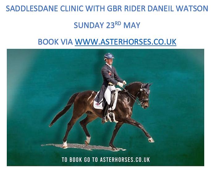 Dan Watson Clinic at Saddlesdane 23rd May
