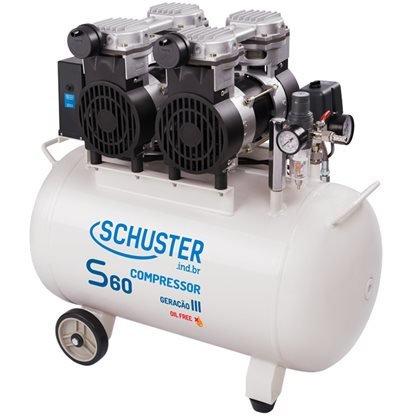 Compressor S60 60 Litros 220v p/ 02 Consultórios - Schuster