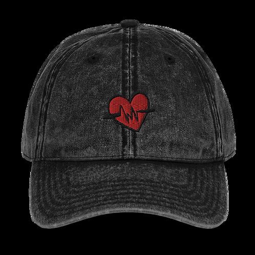 Heart Beat Vintage Cotton Twill Cap
