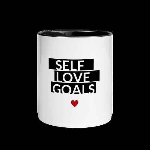 Self Love Goals Mug with Color Inside