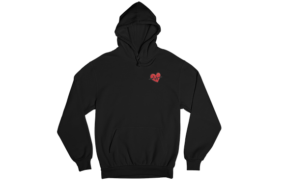 The Heart Beat Hoodie Embroidered Hoodie