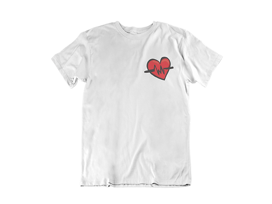 The Heart Beat Unisex Embroidered Tee