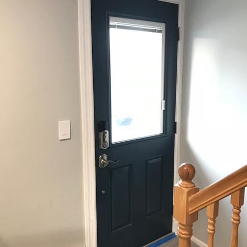 Exterior door installed