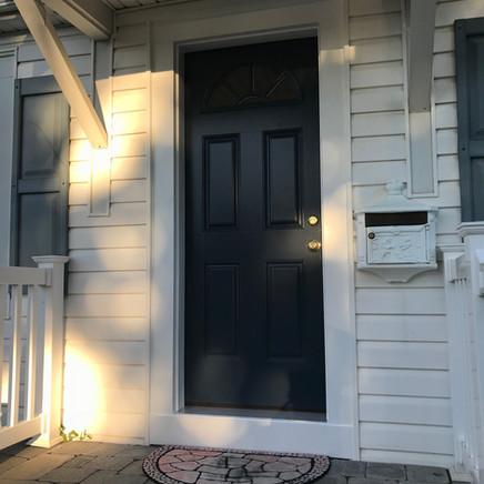 Blue Front Door Installed