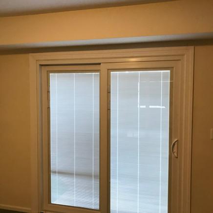 Sliding Patio Door with Blinds