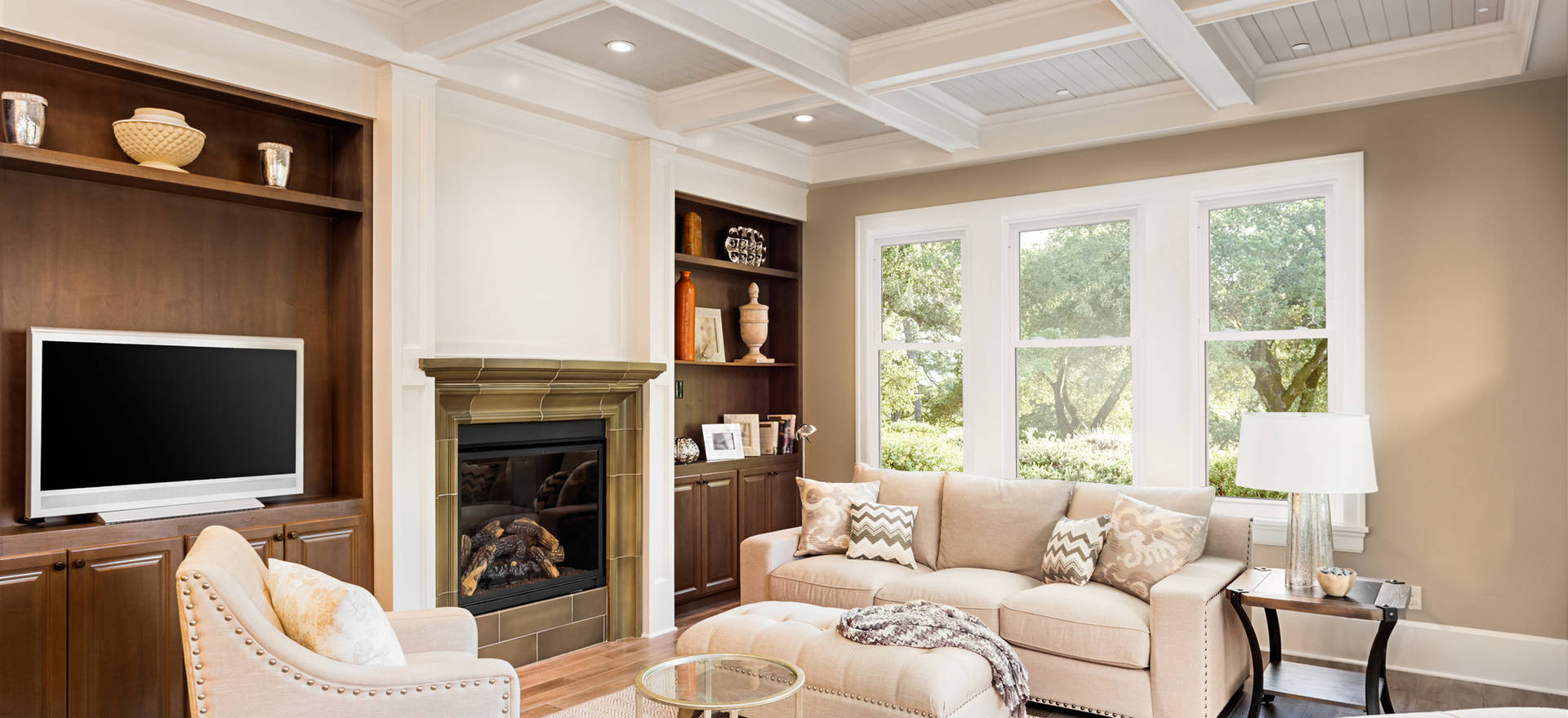 Double Hung Windows - Mulled - Living Ro