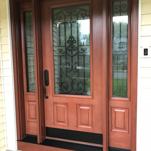 Embarq front door with sidelites installed
