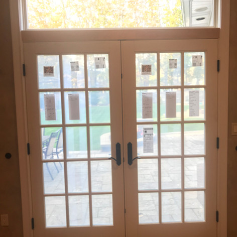 French door with picture window installed