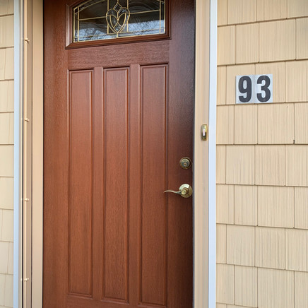 Front door installed
