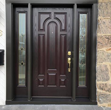 Entry door installed