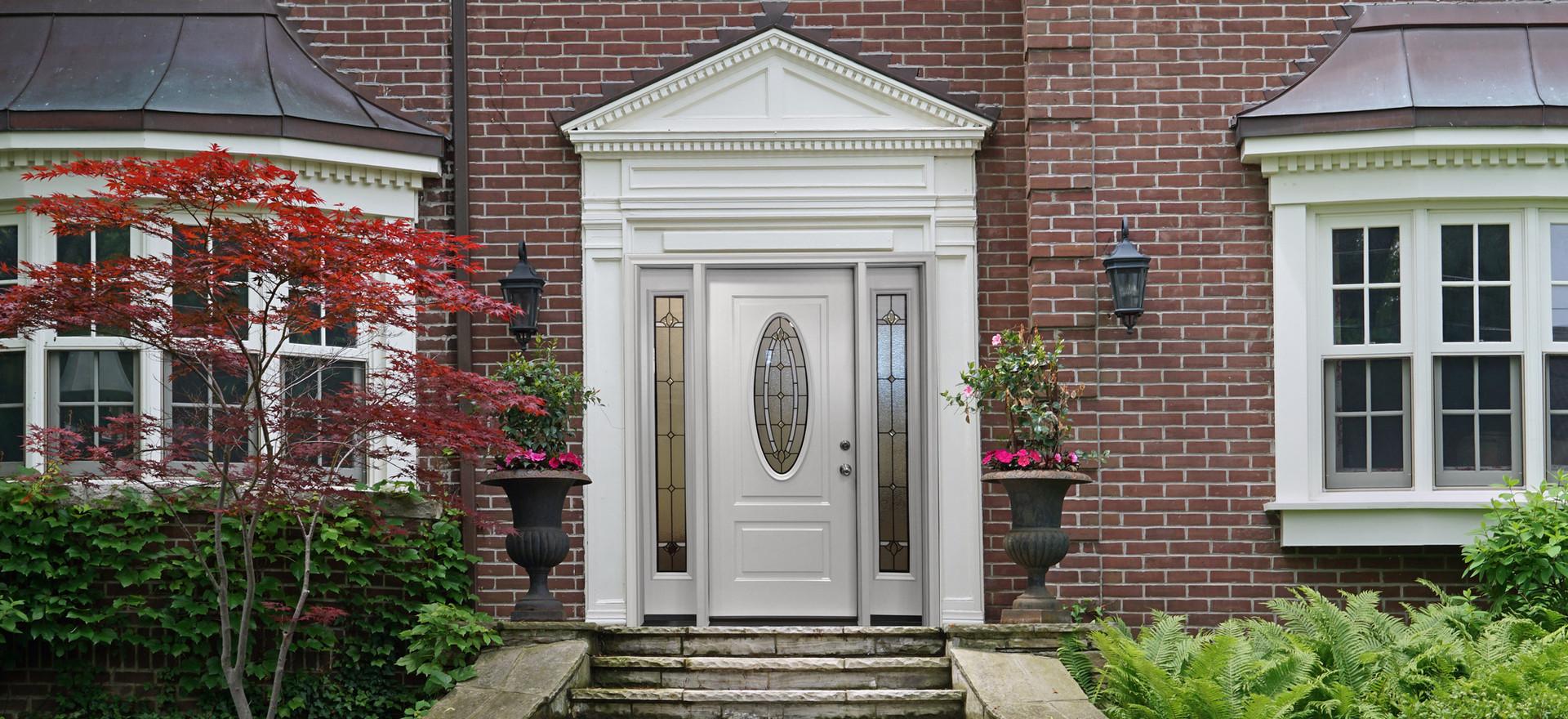 Front Door with Beautiful moulding