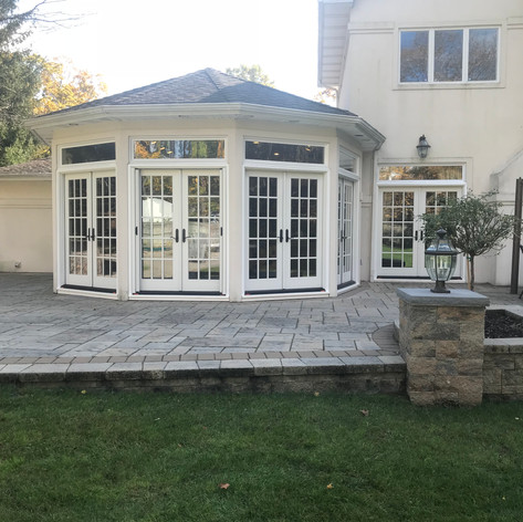 Inswing French doors installed