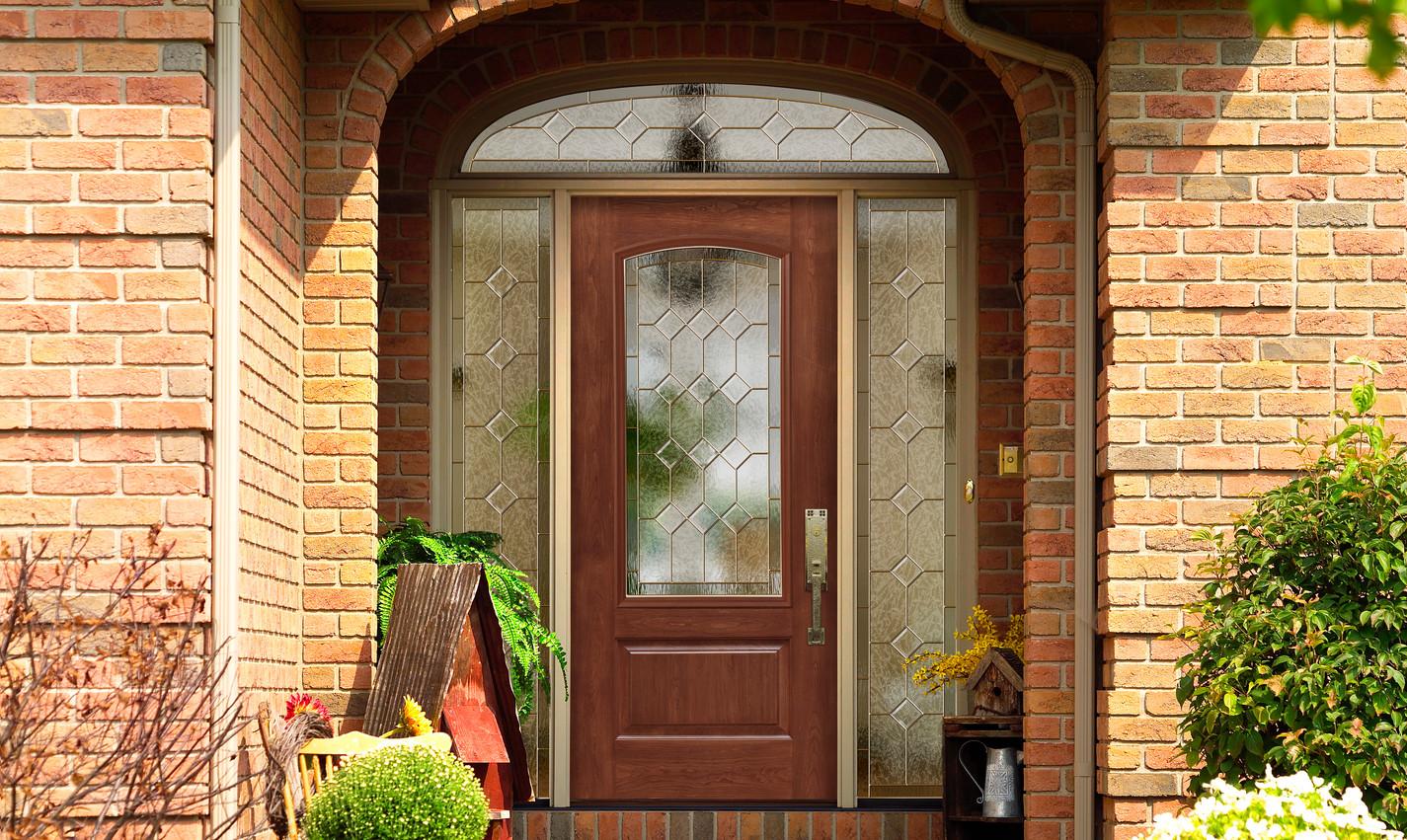 Front Door with Sidelites and Half Round