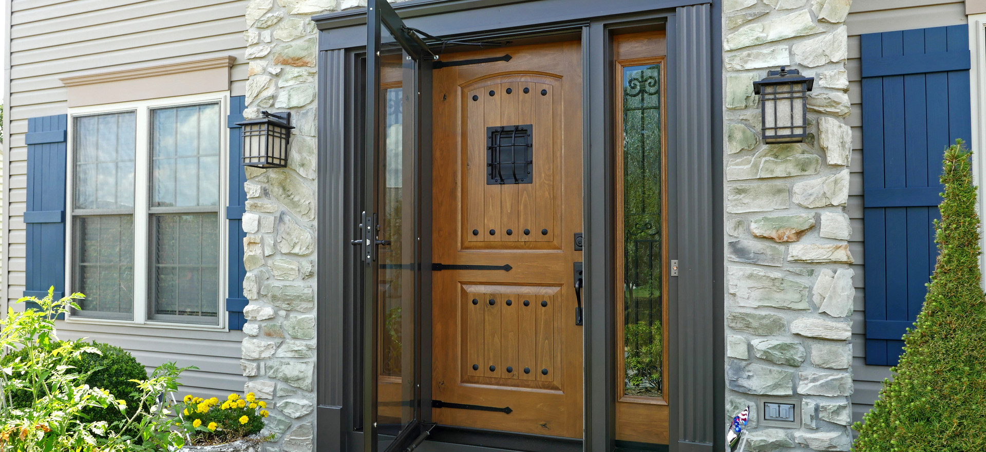 Front Door with Sidelites Installation