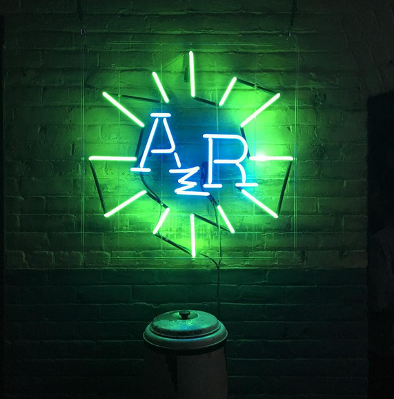 American Radium fabricated sign