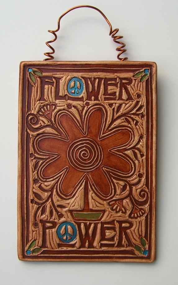 Flower Power art tile