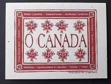 O Canada notecard