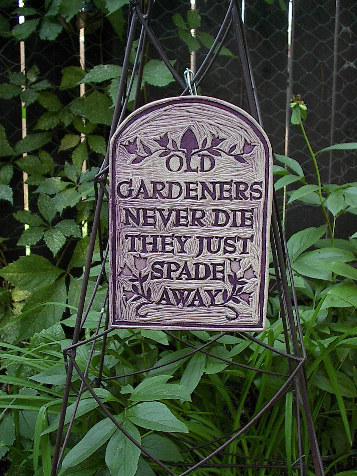 Old Gardeners art tile