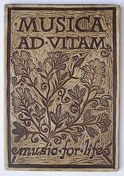 Musica Ad Vitam art tile