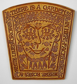 Garden Face art tile