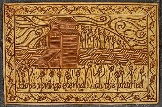 Hope springs...elevator art tile