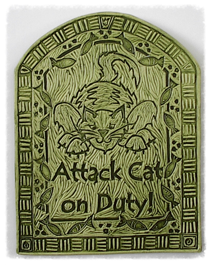 Attack Cat art tile
