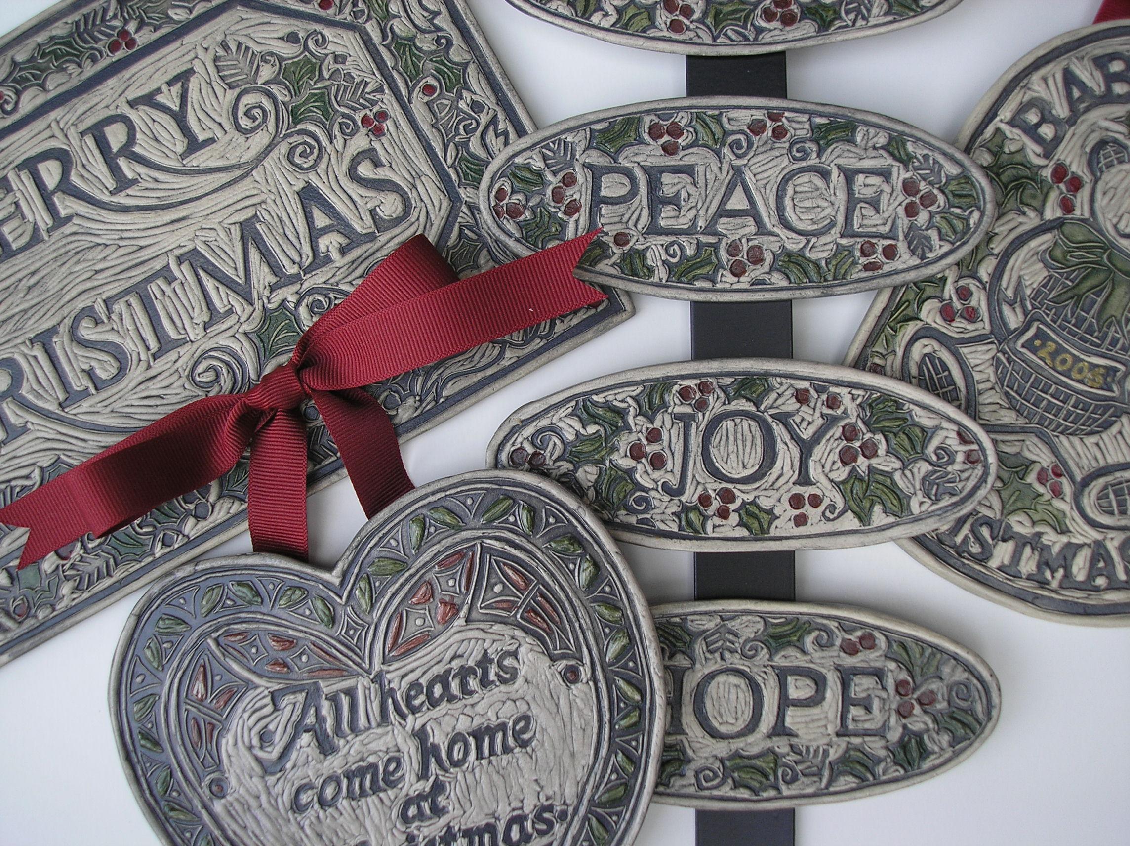 Christmas art tile designs