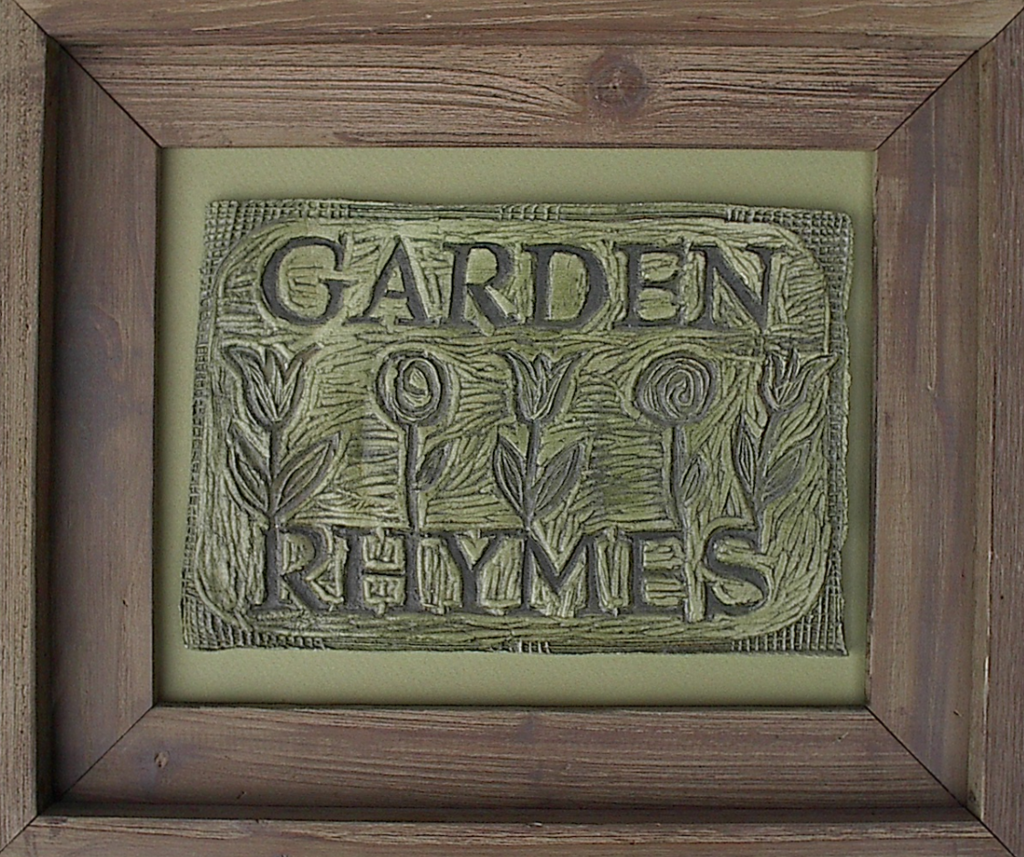 Garden Rhymes® Logo art tile