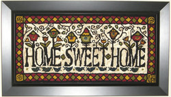 Home Sweet Home rug hooking