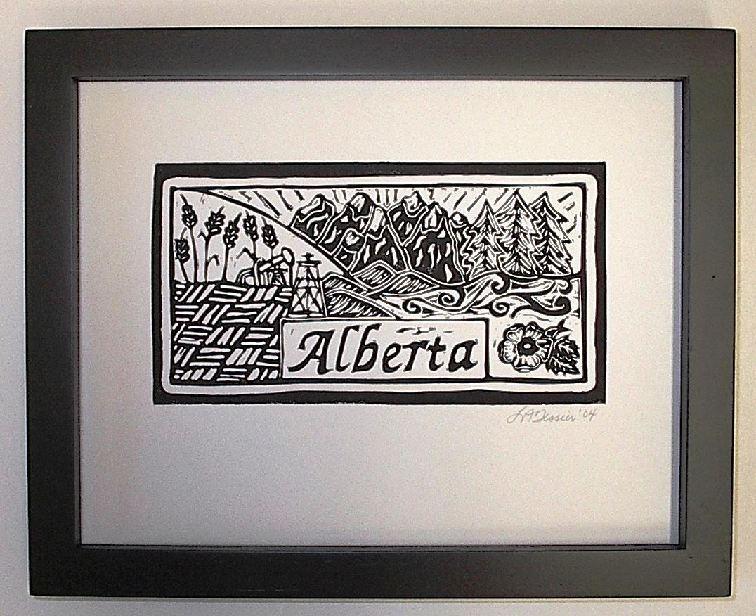 Alberta ink relief print