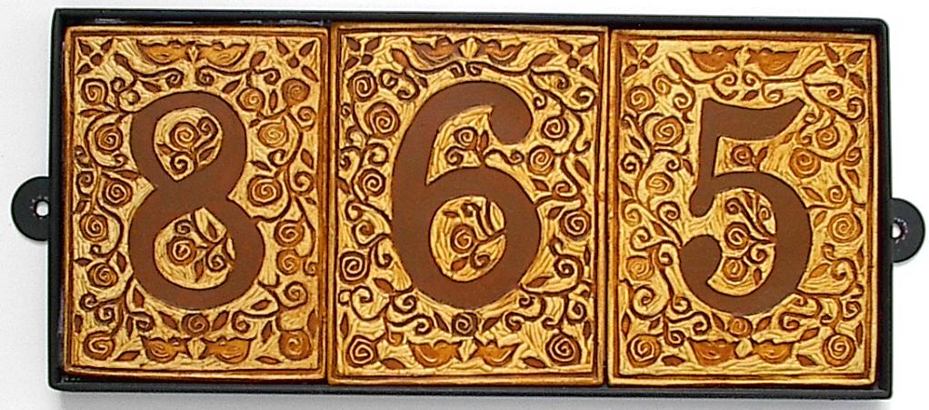 House Number art tiles