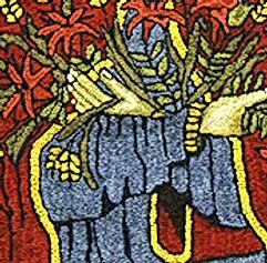 Our Lady of the Prairies rug hooking