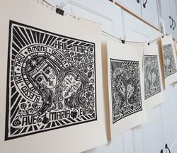 The Second Eve lino-cut print