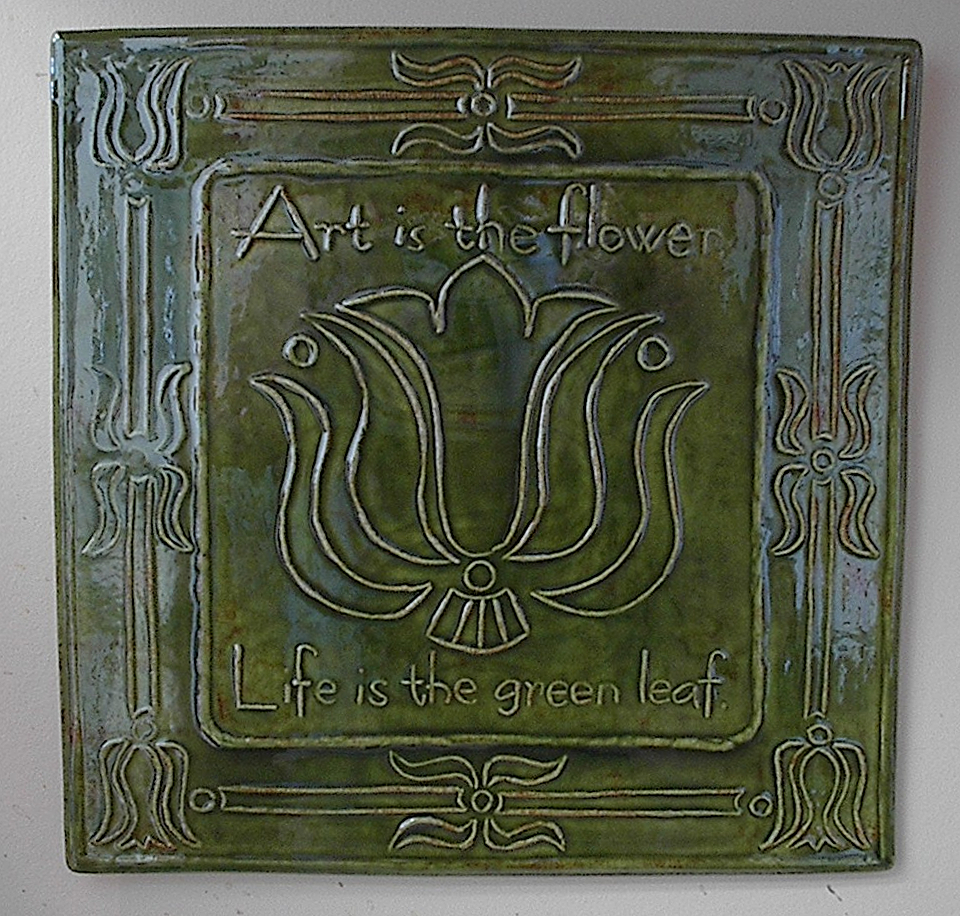 Art is the flower art tile