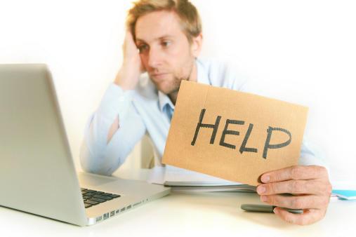 Colaborador desanimado pedindo help