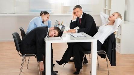 Reuniao com empregados desmotivados