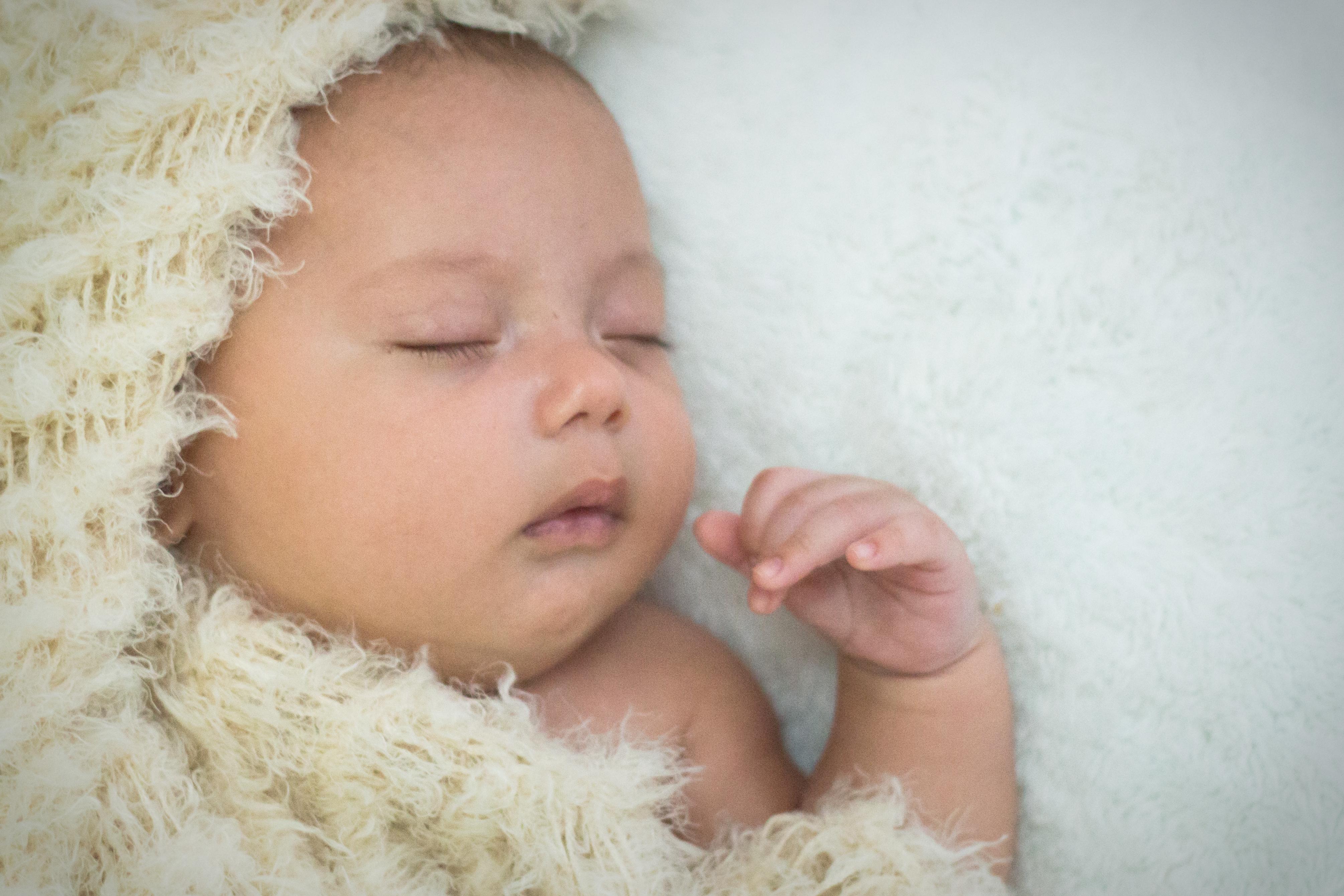 Recién nacido Dulces sueños bebe.